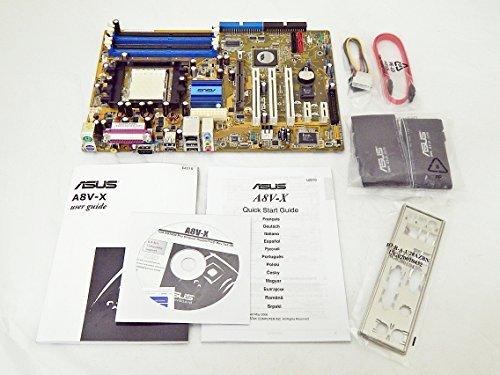 NEW RETAIL ASUS A8V-X VIA K8T800PRO AMD Socket 939 ATX Motherboard with 8X AGP slot, Audio, LAN, and SATA Agp Pci Slots
