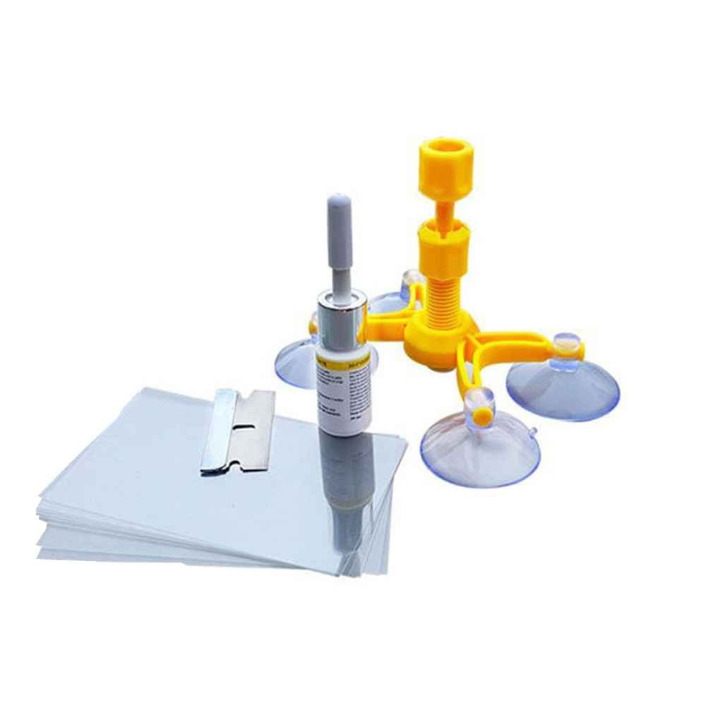 Pigupup Parabrisas Fix Tool Kit Set de Cristal Parabrisas reparaci/ón de reparaci/ón de Parabrisas de Cristal Herramienta de reparaci/ón de la Ventana Juego de Pulido