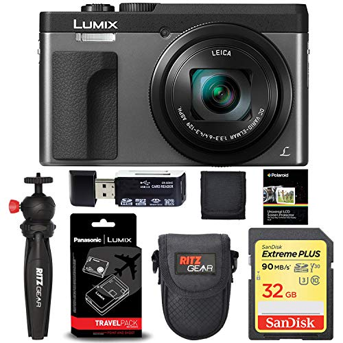 Panasonic Lumix ZS70 20.3 Megapixel, 4K Digital Camera, Touch Enabled 3-inch 180 Degree Flip-Front Display, 30X Leica DC Vario-Elmar Lens (Silver) with Camera Bundle
