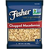 FISHER Chef's Naturals Chopped Macadamia Nuts, No Preservatives, Non-GMO, 2 Ounce Packages (Pack of 12)