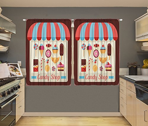 Dunmore Candy Kitchen Home: Kitchen Curtains Candy Shop 55 X 39 Inch Art Prints