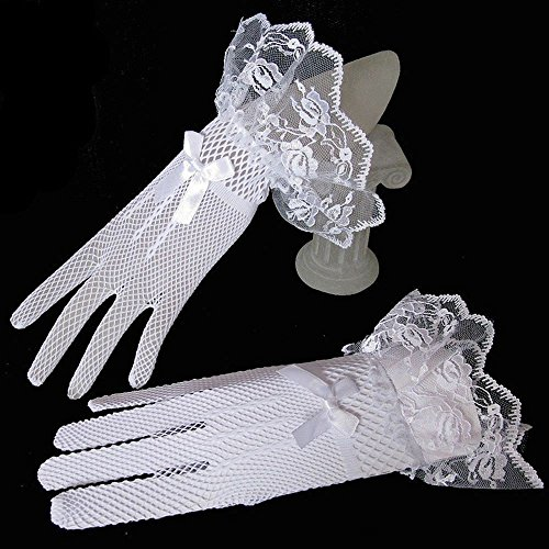 White Black Party Wedding Gloves Lace Gloves Evening Prom for Dress Fingered Accessories xqvpPgcp