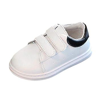 a589eb63 ZHRUI Bebé Moda Zapatillas de Deporte sólidas para niños, niñas, niños y  niños pequeños Deportes Ocasionales, Zapatos Blancos Zapatos para niños  pequeños ...
