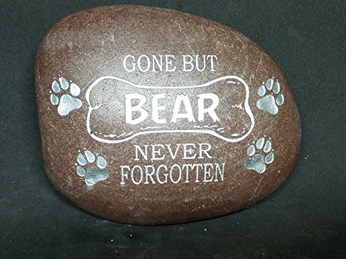 HeadStone W/Name and Date Pet Memorial Memory Crest Rock Custom Order Carved Namesake, Family Name Stone, rocks, garden, etched, Engraved -