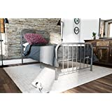Novogratz Bellamy Metal Bed Frame Under Bed Storage, Grey, Twin