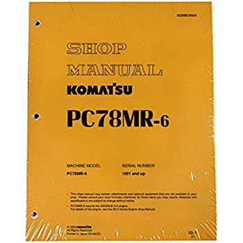 komatsu pc78us 6 excavator operation maintenance manual 4