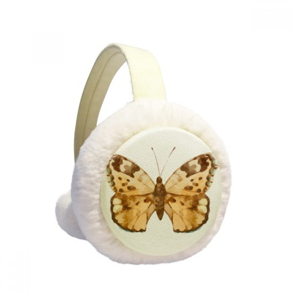 Butterfly with Brown Wings Winter Earmuffs Ear Warmers Faux Fur Foldable Plush Outdoor Gift