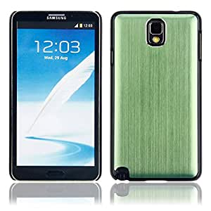 Stylish Metal Drawing shield Case for Samsung Note3 Green