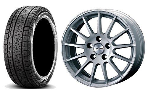 【輸入車 BMW1シリーズ (2シリーズ)】 スタッドレスタイヤホイール 1本セット 16インチ PIRELLI(ピレリ) ウインターアイスアシンメトリコ(ランフラット) 205/55R16 91Q r-f + アーヴィンF01 HSL(シルバー) B076P5WLBF ホイールセット(シルバー / BMW)