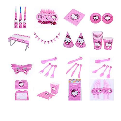 Hello Kitty Party Supplies Kids Birthday Set 145Pcs