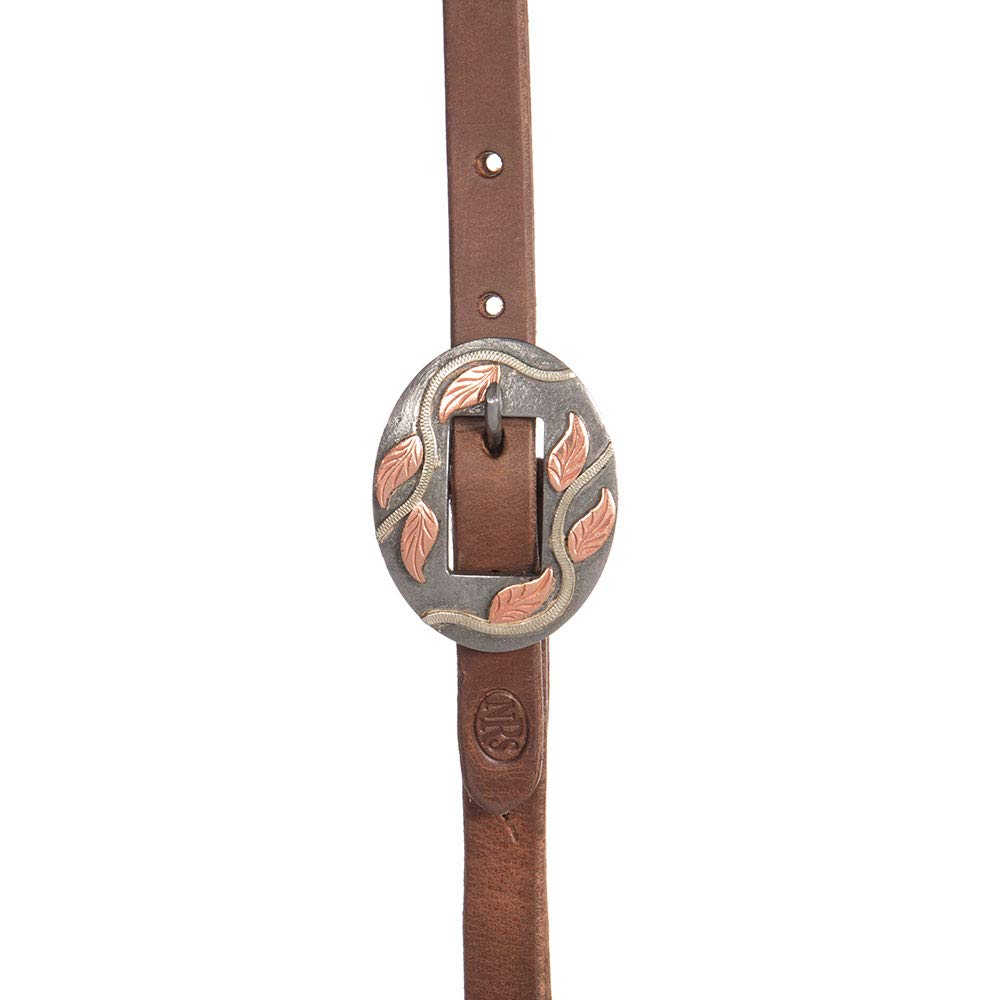 NRS 5/8 Oiled Slot Ear Headstall with a Vine Buckle by NRS (Image #2)
