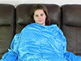 Weighted Blanket for Autism & Anxiety - Great for Sensory Processing Disorder (Blue, 11 lbs) 60 x 40 inch