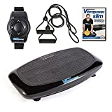 Vibrapower Slim 2 Power Vibration Plate Trainer with Free DVD, Resistance Bands + Remote Watch,...