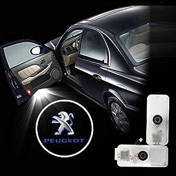 Laser Faros, OSAN 2Pz Lámparas Con Luces LED en 3D, Diseño de la Puerta de Coche Para Peugeot 508: Amazon.es: Coche y moto