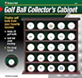 Jef World of Golf 25 Ball Rosewood Collector's Cabinet