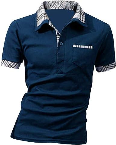 SWISSWELL Hombre Camisas Polo Manga Corta Camiseta Informal Moda Camisa Delgada Camiseta Camisetas Tops: Amazon.es: Ropa y accesorios