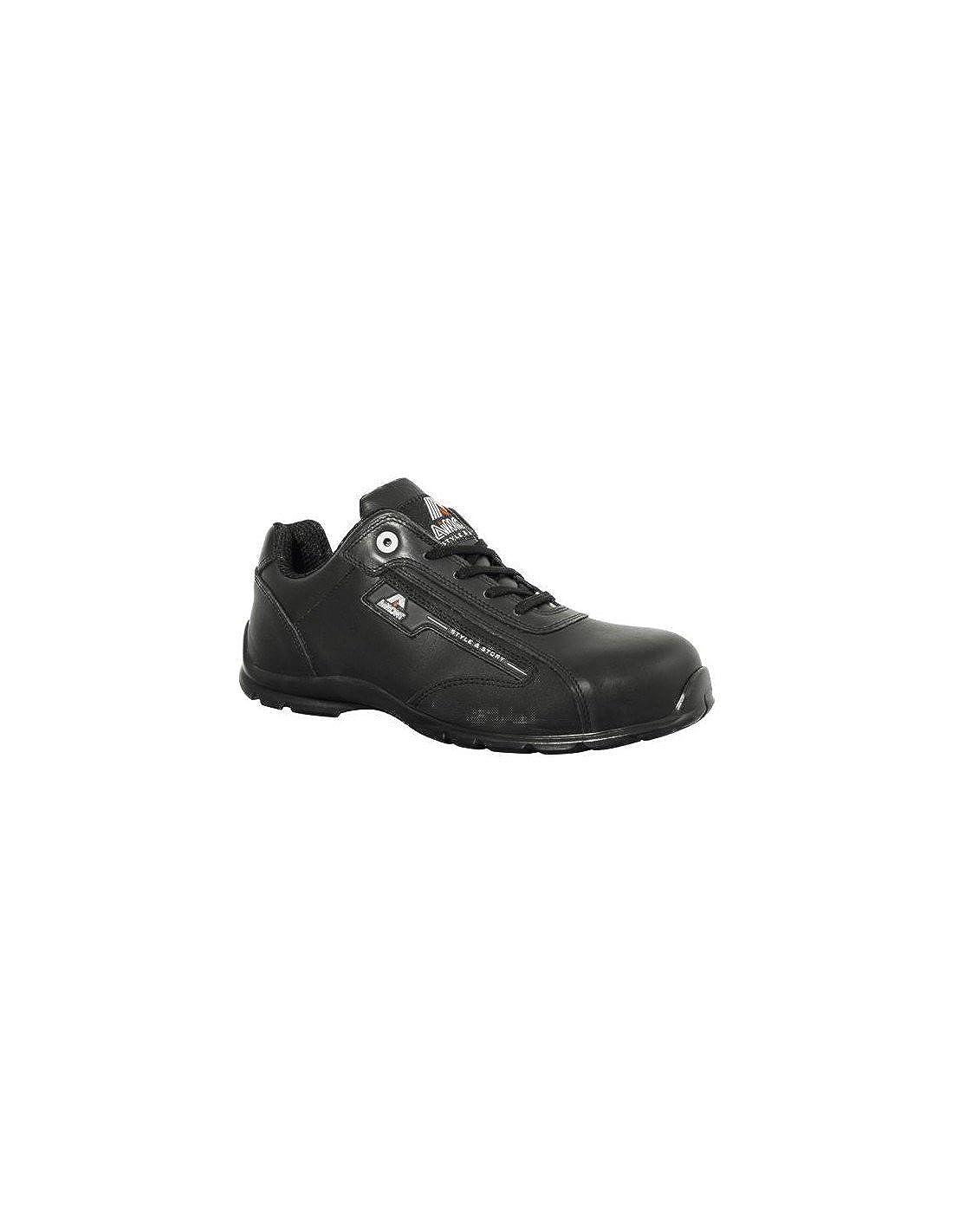AIMONT - Calzado de protección de Piel para Hombre Negro Negro: Amazon.es: Zapatos y complementos