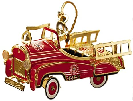 ChemArt Pedal Fire Truck Ornament