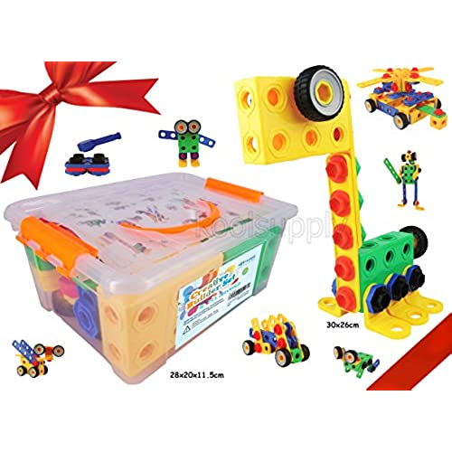 construction engineering building blocks set for 3 4 and 5 year old boys girls creative fun kit best toy gift for kids ages 3yr 6yr