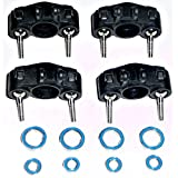 Traxxas 1 16 Grave Digger FRONT & REAR AXLE CARRIERS - PIVOT BALLS & BEARINGS