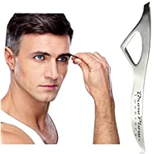Brow Plow Tweezers - See our WIN-EITHER-WAY GUARANTEE - Best Precision Slant Tip Stainless Steel Tweezers Made for a Man