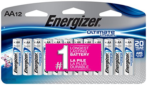Energizer L91SBP-12 Ultimate Lithium AA Universal Battery - 12pk