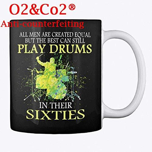 Equal Drums Sixties メンズ ホワイトマグ ユニークなセラミックコーヒー/紅茶/ココアマグ オフィス&ホームティーカップギフト コーヒー&紅茶愛好家 クールな誕生日 最高のお土産 完璧なギフト B07NWN147S