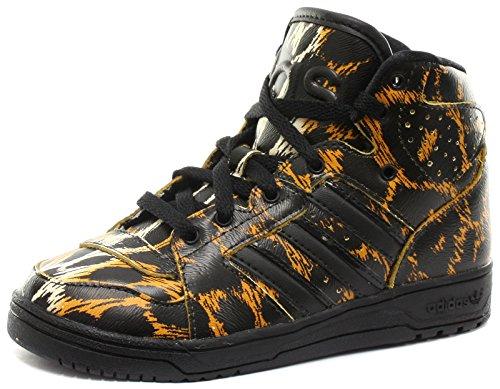 Price comparison product image adidas Originals Jeremy Scott Instinct Hi Leopard Kids Sneakers, Size 10K