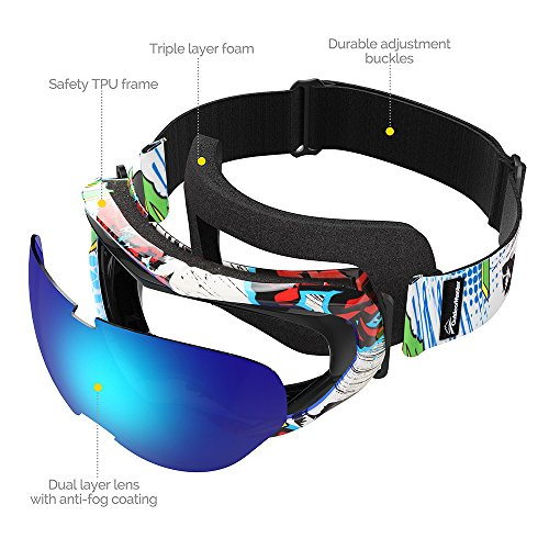OutdoorMaster-Kids-Ski-Goggles-Helmet-Compatible-Snow-Goggles-Boys-Girls-100-UV-Protection