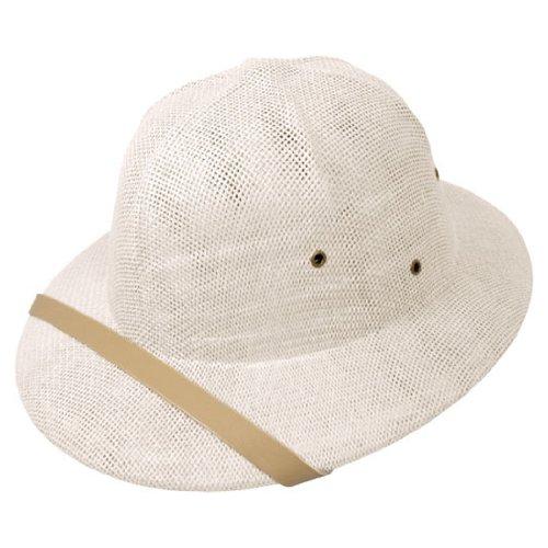 White Toyo Straw (Toyo Straw Pith Helmet (Adjustable, White) )
