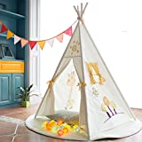 Fessyc@Stay of giraffe pattern embroidery spire children games tent tent spring children indoor cloth tents indian teepee