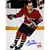 Guy Lafleur Autographed 8X10 Photograph - Montreal Canadiens (Red)