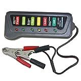 Alternator Tester & Car Battery Tester 12V Test Battery Condition & Alternator Charging (6 LED indication)
