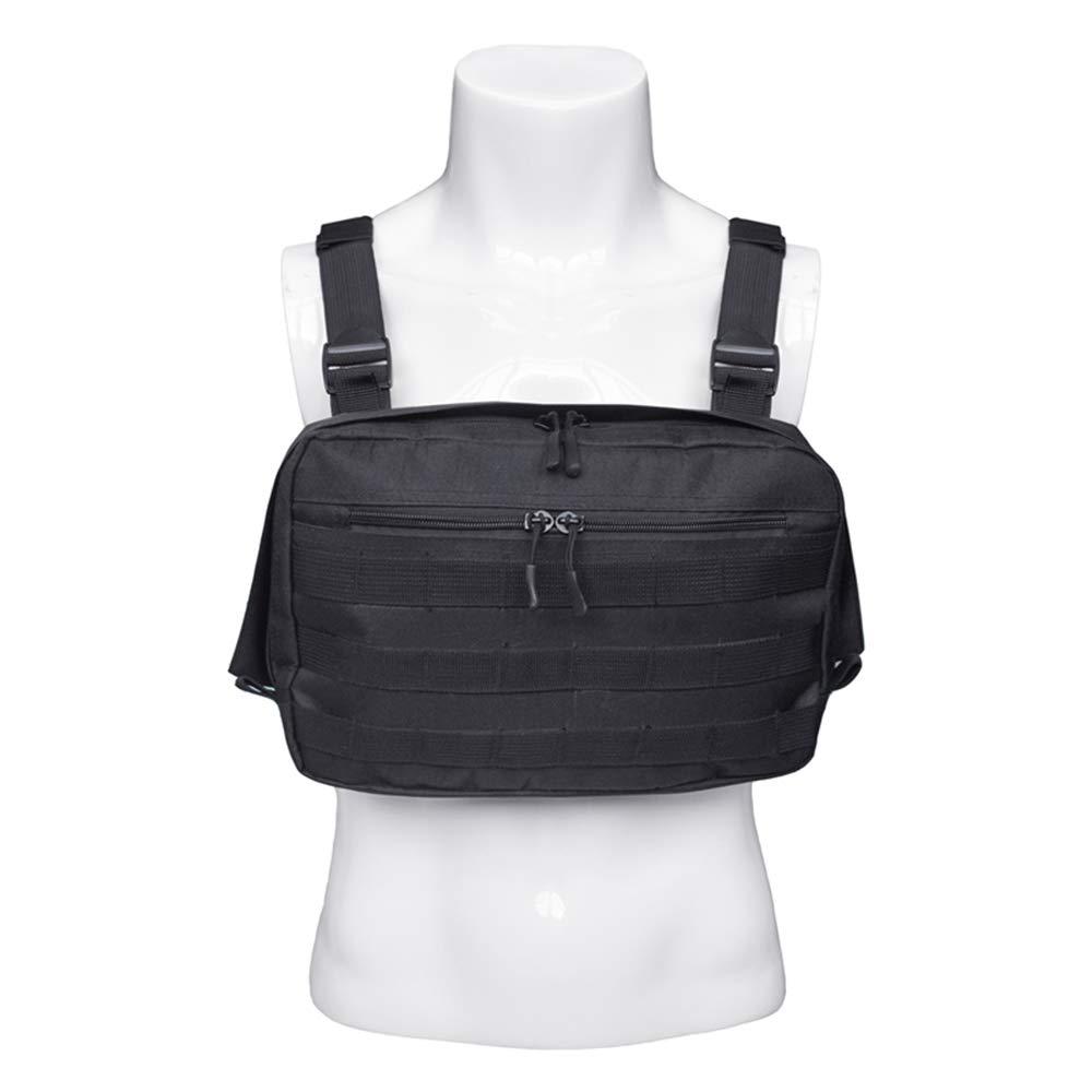 Rescue Essentials Saigain Radio Rig Chest Harness Bag Holster Holder Work Vest Rig Universal Hands Free for Two Way Radio Walkie Talkie
