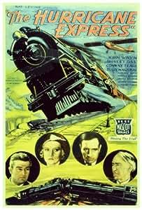 El Huracán Express Póster de película B 27x 40en–69cm x 102cm Tully Marshall Conway Tearle John Wayne Shirley gris