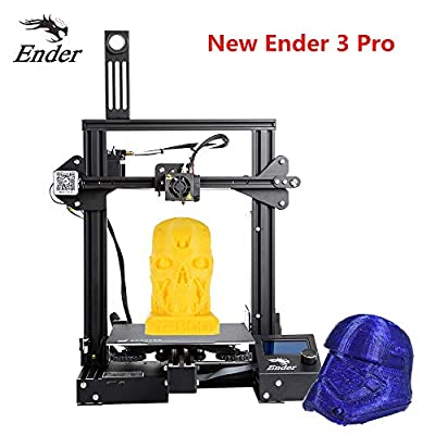 """Luxnwatts Ender-3 Pro 3D Printer DIY Kit Resume Print 8.6"""" x 8.6"""" x 9.8"""" with Meanwell Power Supply and New Soft Magnetic Build Surface Plate from Creality"""