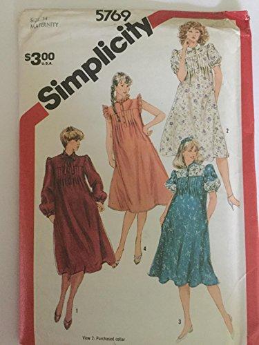 Simplicity pattern 5769 Maternity dress Size 14