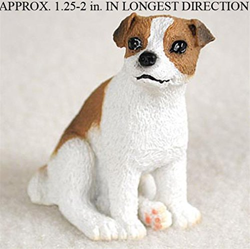 Ky & Co YesKela Jack Russell Terrier Mini Resin Hand Painted Dog Figurine Statue Brwn/Wht Smooth