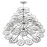 Homeford FNS007019SIL Metal 5-Tier Cupcake Holder Stand for 41 Cupcakes, 14