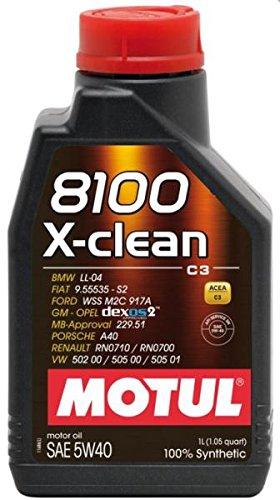 motul59 Bote 1 Litro Aceite Motul 8100 X-Clean 5 W40 100% sintentico ...