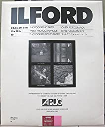 Ilford Multigrade IV RC Portfolio Black & White Paper 16 x 20'', Glossy , 10 Sheets