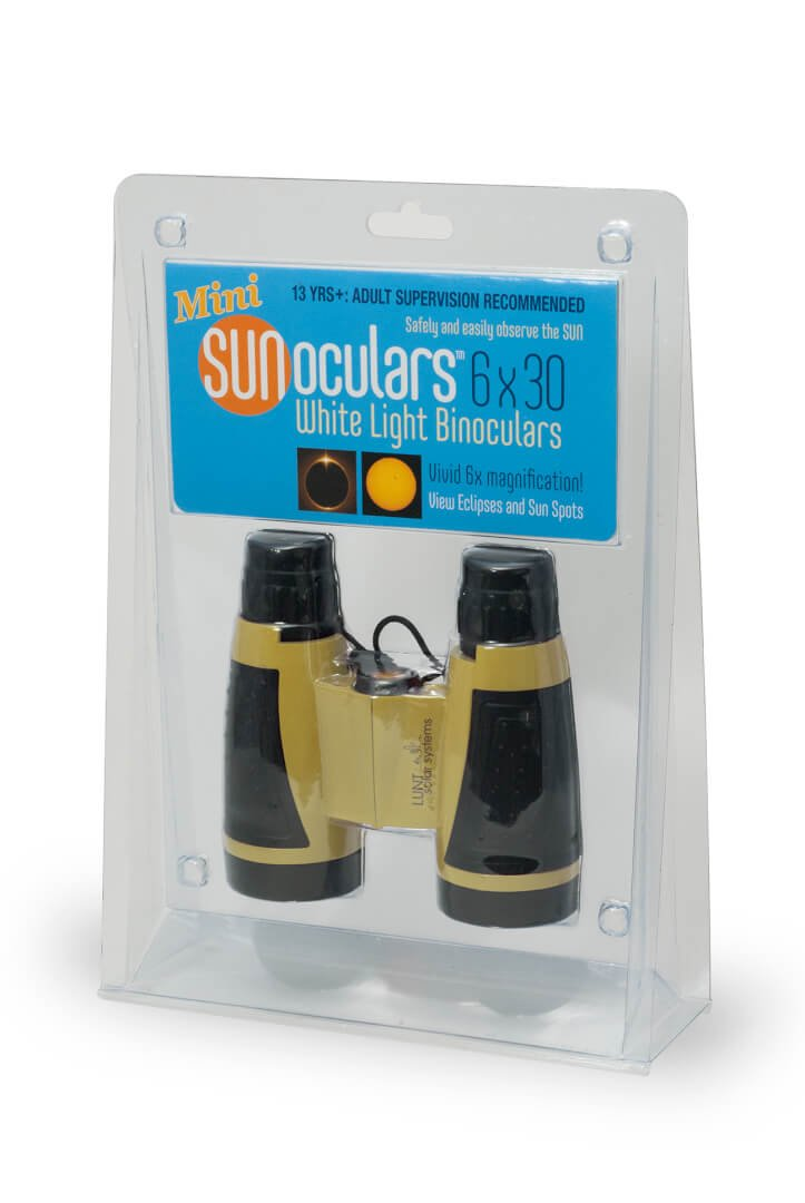 Sunoculars Mini (Yellow) with 6x the magnification of Eclipse Glasses