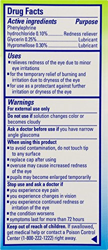 Clear Eyes Pure Relief Multi-Symptom - #1 Selling Brand of Eye Drops - For Red, Burning, Itchy, Dry Irritated, Gritty, Watery Eyes - Preservative-Free -  0.3 Fl Oz