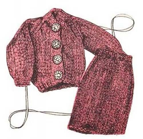 Doll Ensemble (Fashion Doll Ensemble Barbie Outfit Knitting Pattern Vintage Knit EBook Download Needlecrafts)