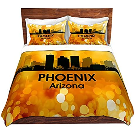 DiaNoche Designs Angelina Vick City Lll Phoenix Arizona Brushed Twill Home Decor Bedding Cover 8 King Duvet Sham Set