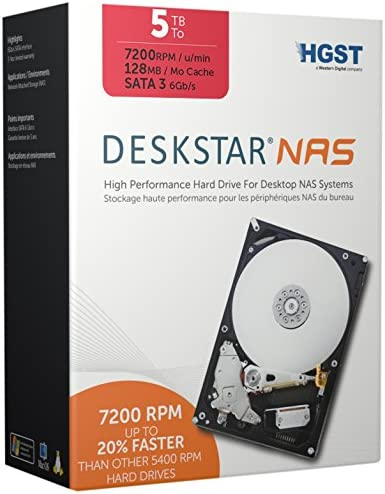 Western Digital Deskstar 7200 Hard Drive 128MB Cache  5TB Capacity