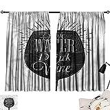 Darkening Curtains Darkening Curtains Wine,Save Water Drink Wine Phrase,Room Curtain for Kids Room