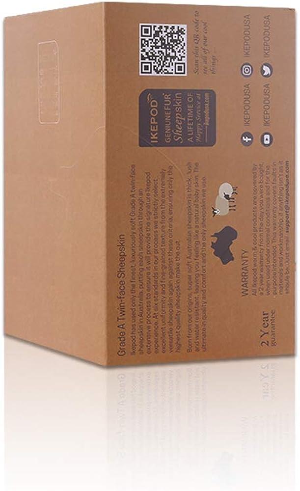 IKEPOD paraorecchie in pelle di pecora morbido copriorecchie in Lana da Uomini//Donne Australiano Unisex Invernali Classico Scaldini per le orecchie