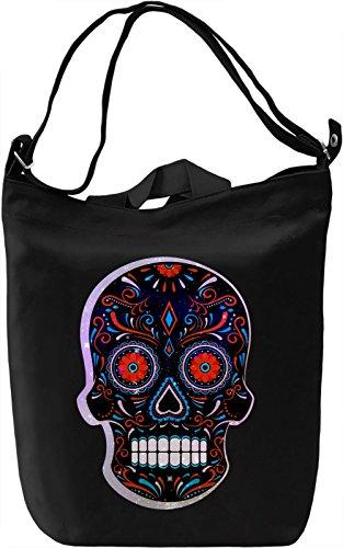 Colorful Sugar skull Borsa Giornaliera Canvas Canvas Day Bag| 100% Premium Cotton Canvas| DTG Printing|