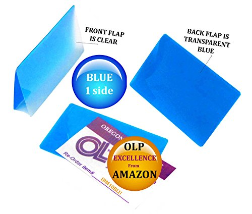Oregon Lamination Hot Laminating Pouches IBM Card (pack of 100) 10 mil 2-5/16 x 3-1/4 Blue/Clear by Oregon Lamination Premium